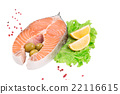 salmon, steak, fillet 22116615