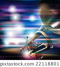 abstract grunge background with trumpet 22118801