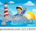 Submarine with sailor theme image 2 22119593