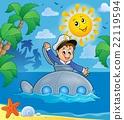 Submarine with sailor theme image 3 22119594