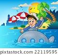 潜水艇 水手 矢量 22119595