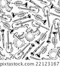 Seamless jazz musical instruments pattern 22123167