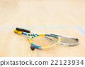 Squash racket closeup 22123934
