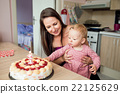 Mother holding her baby daughter with birthday 22125629