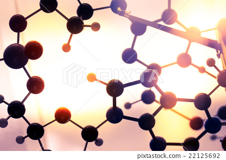 Molecular, DNA and atom model in science lab 22125692