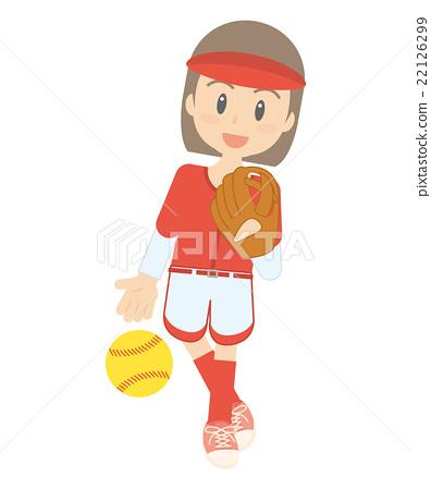 Stock Illustration: vector, vectors, softball