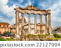 Temple of Saturn ruins in Roman Forum, Rome, Italy 22127004