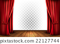 Theater curtains with a transparent background 22127744
