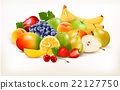 Fresh juicy fruit and berries 22127750