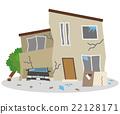 지진 재해 무너진 주택 22128171