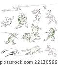 浮世繪 矢量 毛筆繪畫 22130599