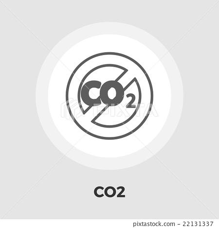 CO2 flat icon 22131337
