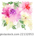 Flowers watercolor illustration 22132053
