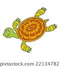 Happy sea turtle cartoon 22134782