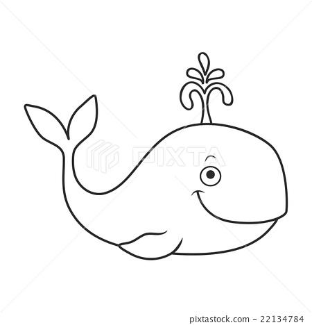 happy cartoon whale