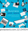 Flat design illustration of creative office  22134934