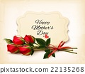 Bouquet of red roses. Mother's Day background. 22135268