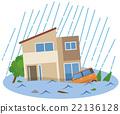 홍수 수해 주택 22136128