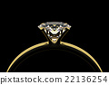 Golden ring with diamond. 22136254