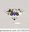 Shiny white diamond 22136259