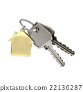 Keys with a house pendant.  22136287