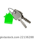 Keys with a house pendant.  22136288