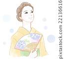 和服 女性 女 22136616