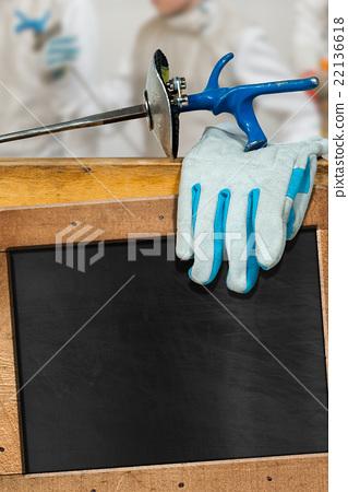 Empty Blackboard for Fencing Sport 22136618
