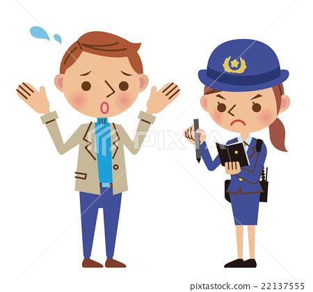 警察 女生 女孩 22137555