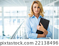 Concept for young secretary in modern office 22138496