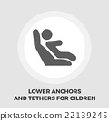 Lower anchors and tethers for children flat icon 22139245