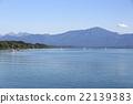 Mountain panorama at lake Chiemsee, Bavaria 22139383