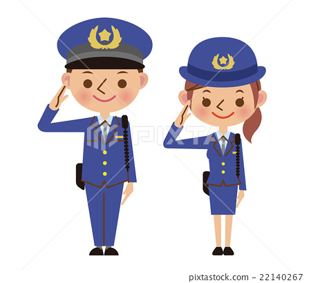 Salute police officers (men and women) 22140267