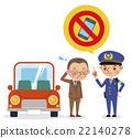 警察 交通違章 矢量 22140278