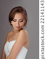 Bride in wedding dress studio shooting 22141143