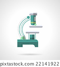 Light microscope flat color design vector icon 22141922