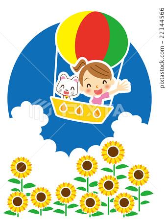 白猫 气球 汽球 22144566