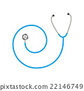Stethoscope in shape of spiral in blue design  22146749