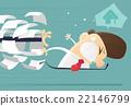Businessman running away from jobs 22146799