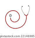 Stethoscope in shape of spiral in red design  22146985