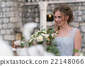 Young bride portrait with a wedding bouquet 22148066