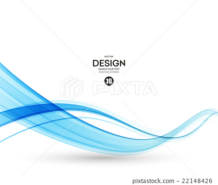 Abstract vector background, blue wavy  22148426
