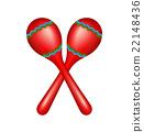 Pair of maracas in red design 22148436