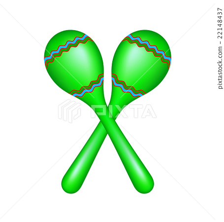 Pair of maracas in green design 22148437
