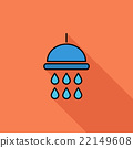 Shower flat icon 22149608