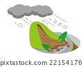 暴雨 山崩 矢量 22154176