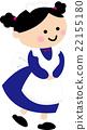 女仆 女孩 微笑 22155180