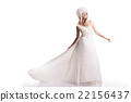 The beautiful young woman in a wedding dress 22156437