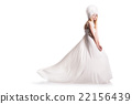 The beautiful young woman in a wedding dress 22156439