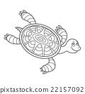 Happy sea turtle cartoon 22157092